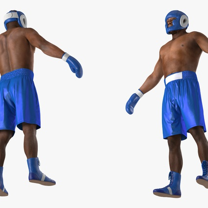 African American Boxer Rigged for Cinema 4D. Render 13