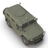 Russian Mobility Vehicle GAZ Tigr M Rigged. Preview 21