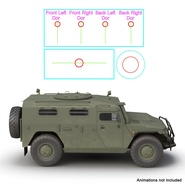 Russian Mobility Vehicle GAZ Tigr M Rigged. Preview 5