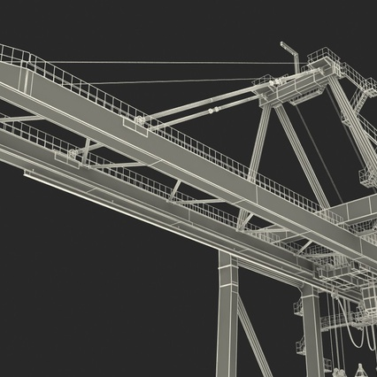 Container Crane Blue. Render 42