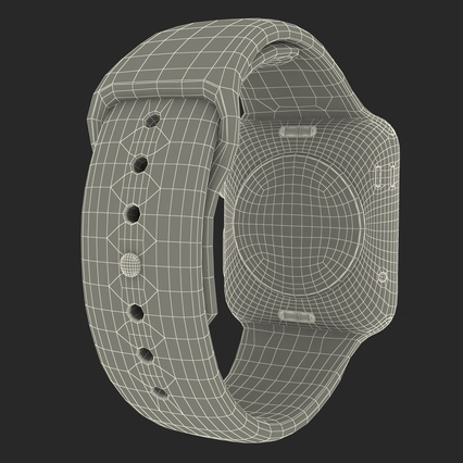 Apple Watch Sport Band White Fluoroelastomer 2. Render 42