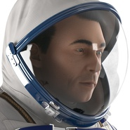 Russian Astronaut Wearing Space Suit Sokol KV2 Rigged for Maya. Preview 33