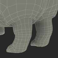 Hippopotamus Rigged for Cinema 4D. Preview 40