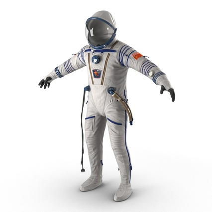 Russian Space Suit Sokol KV2 Rigged. Render 16