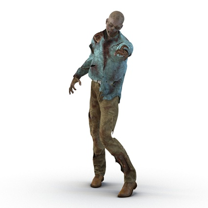 Zombie Rigged for Cinema 4D. Render 12