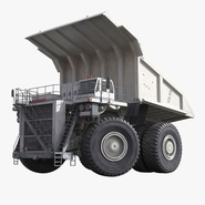 Heavy Duty Dump Truck Generic White Rigged