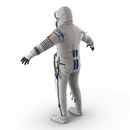 Russian Astronaut Wearing Space Suit Sokol KV2 Rigged for Maya. Preview 13