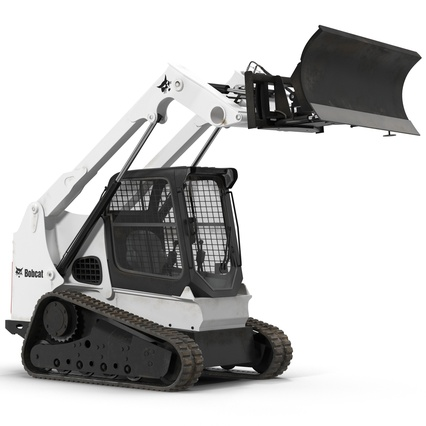Compact Tracked Loader Bobcat With Blade. Render 14