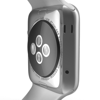 Apple Watch Sport Band White Fluoroelastomer 2. Render 28