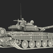 T72 Main Battle Tank Camo Rigged. Preview 24