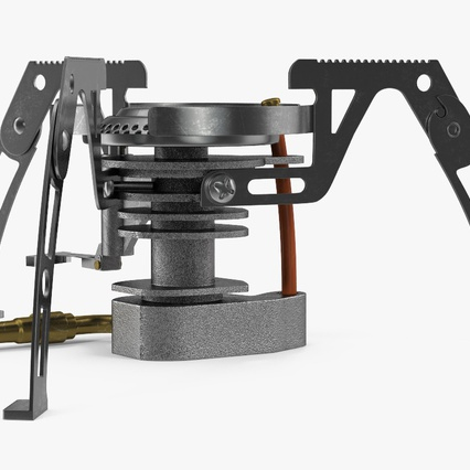 Folding Portable Camping Gas Stove. Render 6