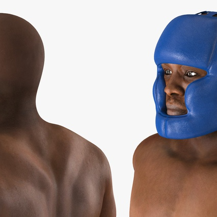African American Boxer Rigged for Cinema 4D. Render 21