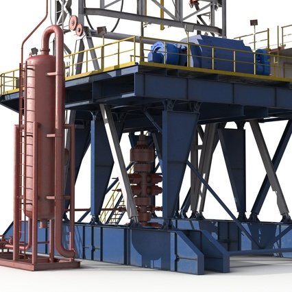 Fracking Gas Platform. Render 22