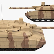 French Army Tank AMX-56 Leclerc Rigged. Preview 17