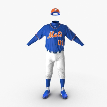 Baseball Player Outfit Mets 2. Render 5