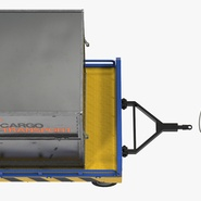 Airport Transport Trailer Low Bed Platform with Container Rigged. Preview 12