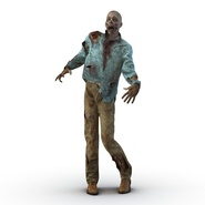 Zombie Rigged for Cinema 4D. Preview 9