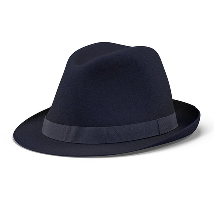 Fedora Hat Blue. Render 4