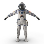Russian Space Suit Sokol KV2 Rigged. Preview 8