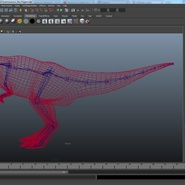 Tyrannosaurus Rex Rigged for Maya. Preview 25