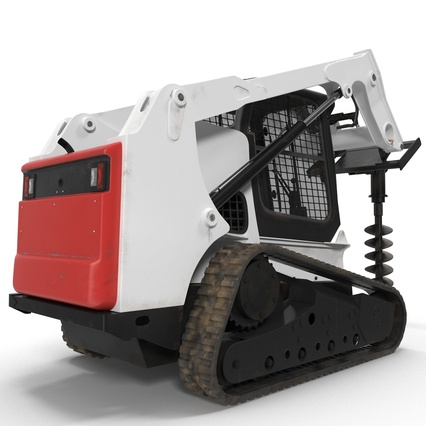 Compact Tracked Loader with Auger. Render 15