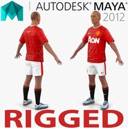 Soccer Player Manchester United Rigged 2 for Maya