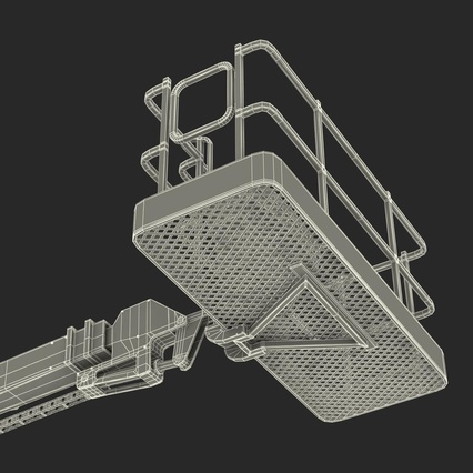 Telescopic Boom Lift Generic 4 Pose 2. Render 105