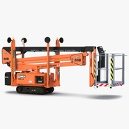 Telescopic Boom Lift Orange 2