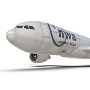 Jet Airliner Airbus A330-200 Northwest Airlines Rigged. Preview 43