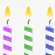 Birthday Candles with Flame Set. Preview 5