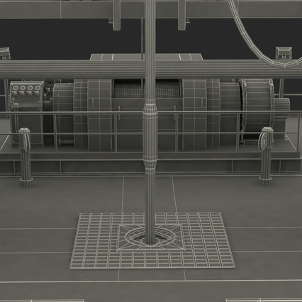 Fracking Gas Platform. Render 60