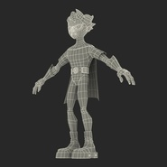 Robin Cartoon Character Rigged for Maya. Preview 34