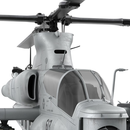 Attack Helicopter Bell AH 1Z Viper Rigged. Render 53