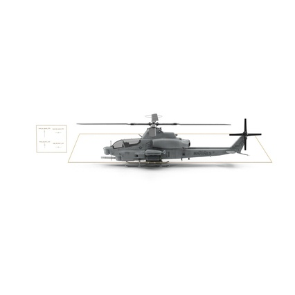 Attack Helicopter Bell AH 1Z Viper Rigged. Render 4
