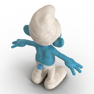 Smurf Rigged for Maya. Preview 14