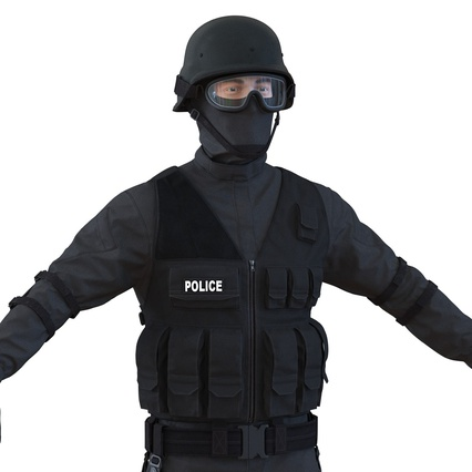SWAT Man Mediterranean Rigged for Maya. Render 23