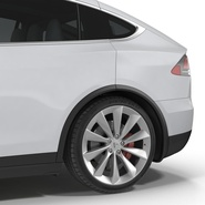 Tesla Model X Rigged. Preview 49