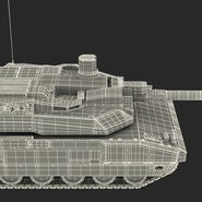 French Army Tank AMX-56 Leclerc Rigged. Preview 28