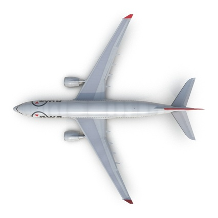 Jet Airliner Airbus A330-200 Northwest Airlines Rigged. Render 16