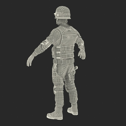 SWAT Man Mediterranean Rigged for Maya. Render 52
