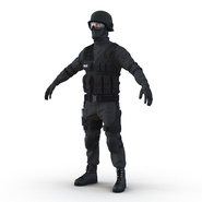 SWAT Man Mediterranean Rigged for Cinema 4D. Preview 17