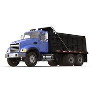 Dump Truck Mack Rigged. Preview 9