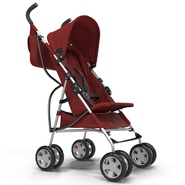 Baby Stroller Red. Preview 10