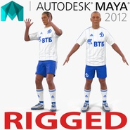 Soccer Player Dynamo Rigged 2 for Maya
