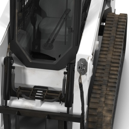 Compact Tracked Loader Bobcat With Blade Rigged. Render 30