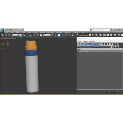Metal Bottle With Sprayer Cap Generic. Render 19