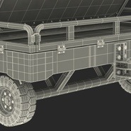 Airport Transport Trailer Low Bed Platform with Container Rigged. Preview 35