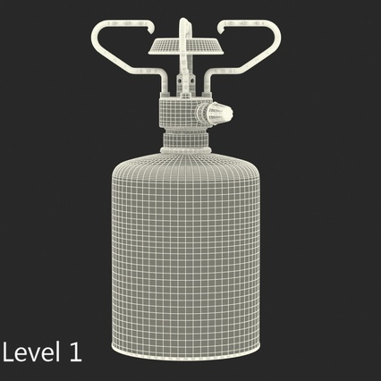 Gas Cylinder with Camping Stove Kovea. Render 14
