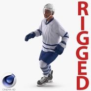 Hockey Player Generic 4 Rigged for Cinema 4D