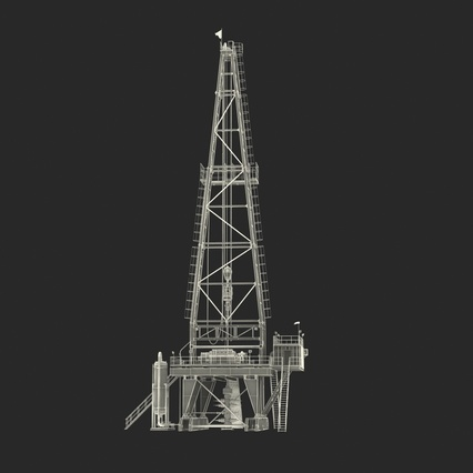 Fracking Gas Platform. Render 45